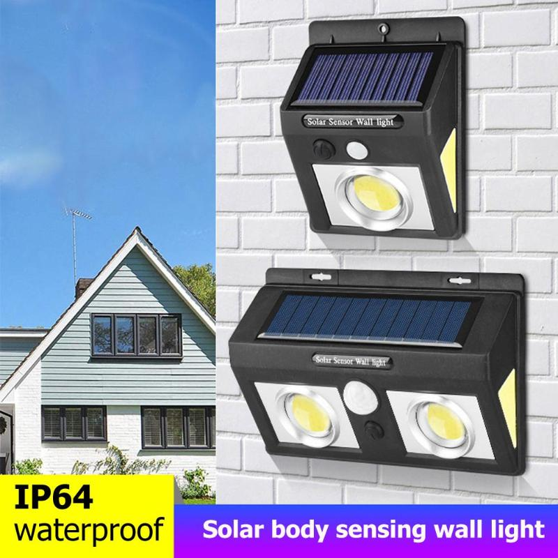 Cob Led Waterproof Solar Power Lamp Motion Sensor Wall Light