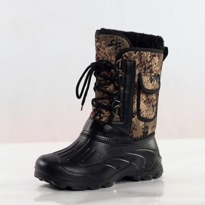 1c5afc94a2c7d ... Men's Spring Winter Snow Boots Waterproof Fishing Outdoor Skiing Hiking  Boots Tactical Military Shoes ...