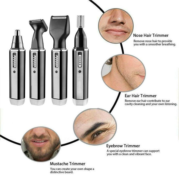 Nose Ear Hair Trimmer Beard and Eyebrow Clipper Kits for Men Eyebrow Clipper