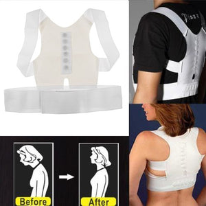 Unisex Magnetic Therapy Posture Back Shoulder Corrector Support Young Brace Belt