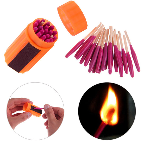Survival Tool Windproof Waterproof Match Fire Starter For Camping Hiking Outdoor