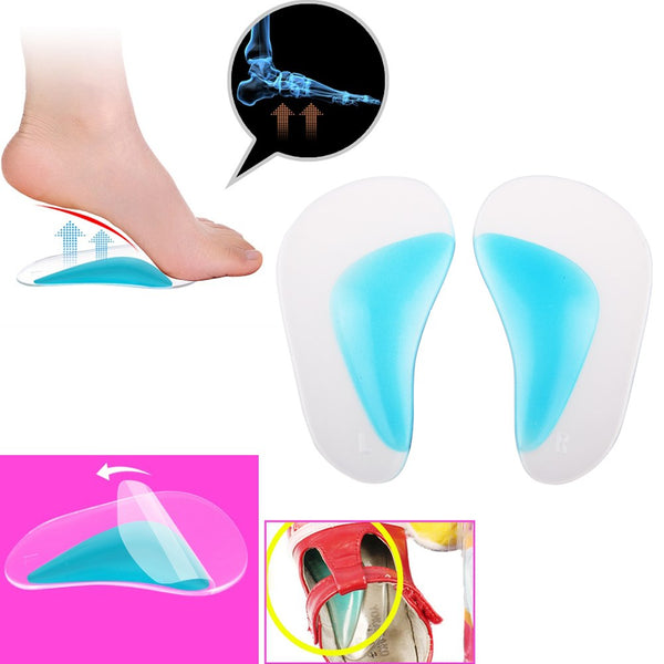1Pair Kid Adult Flat Feet Orthotic Arch Support Shoe Insole Gel Pads Pain Relief Size s
