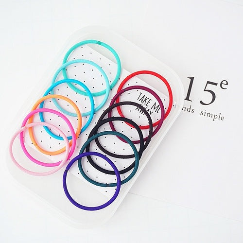 50Pcs 4MM Multicolor Elastic Hair Bands Hair Tie No Metal Gentle Elastics