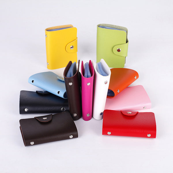 24 Cards Slots PU Leather Purse Wallet Pocket Case ID Credit Card Holder