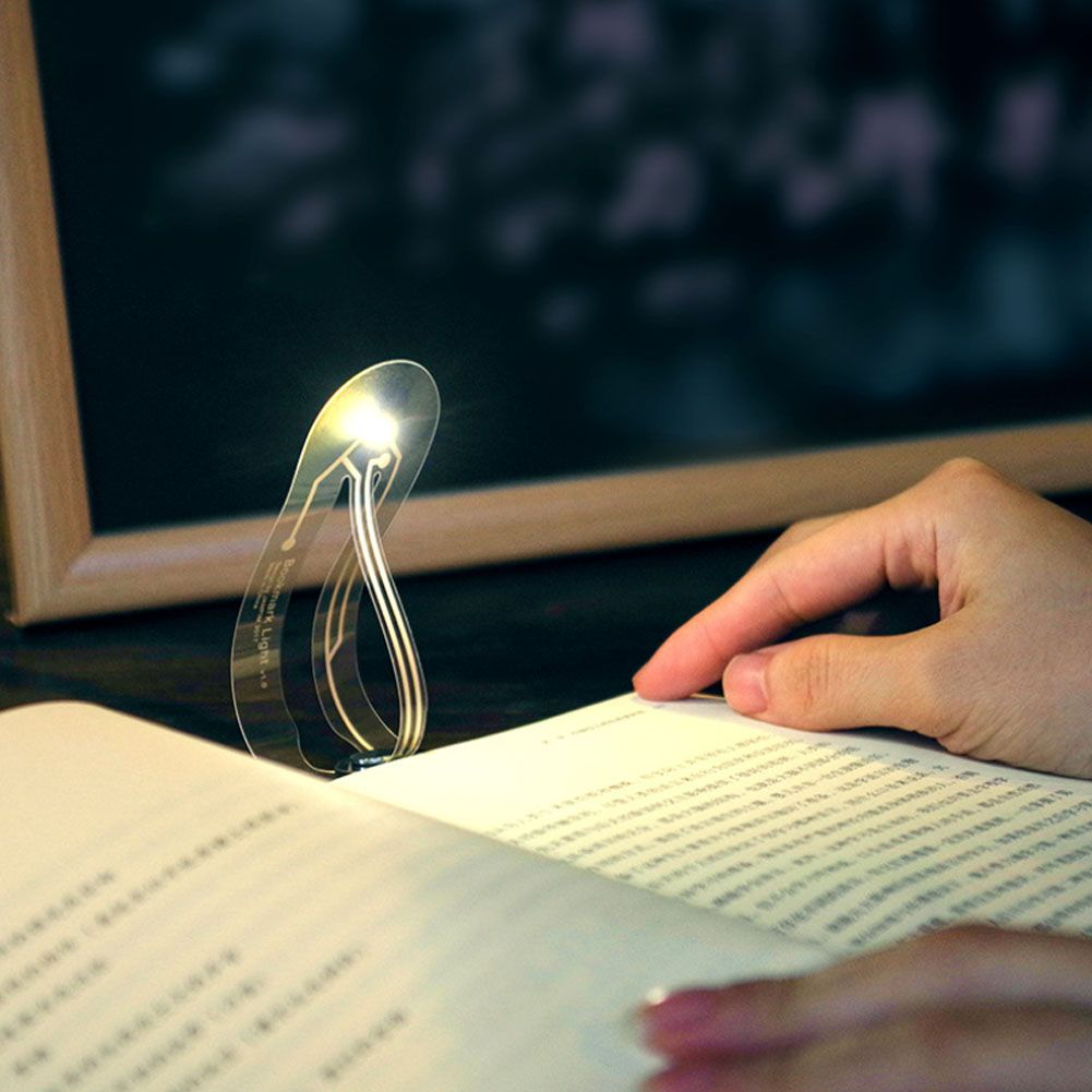 Portable Mini Book Light Reading Light Eye Care Bookmark Light Convenient