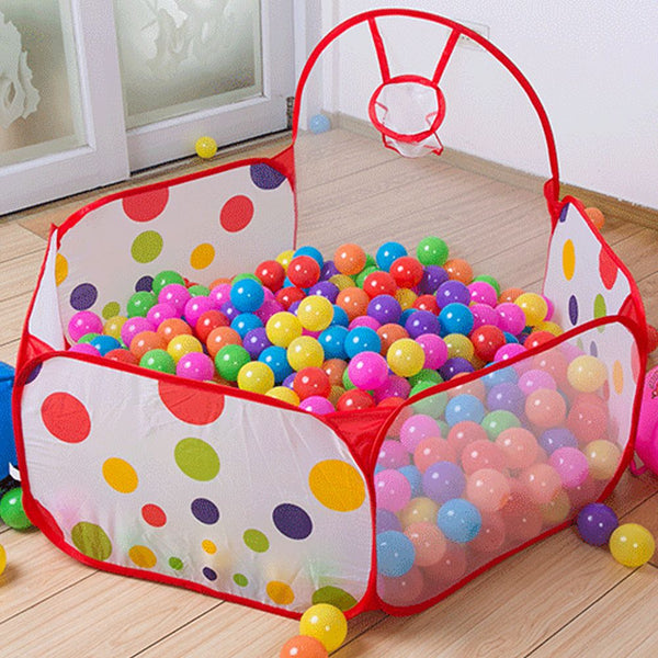 Foldable Kids Ocean Ball Play Pit Pool Outdoor Indoor Hut Toy Tent With Basket(NO BALL)