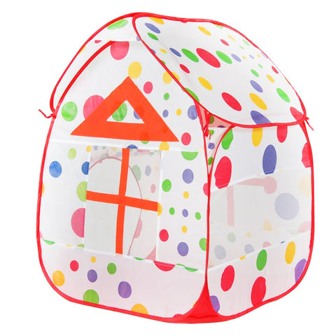 Children Kids Game Tent Portable Play House Hut Ocean Balls Pit Pool (NO BALL)