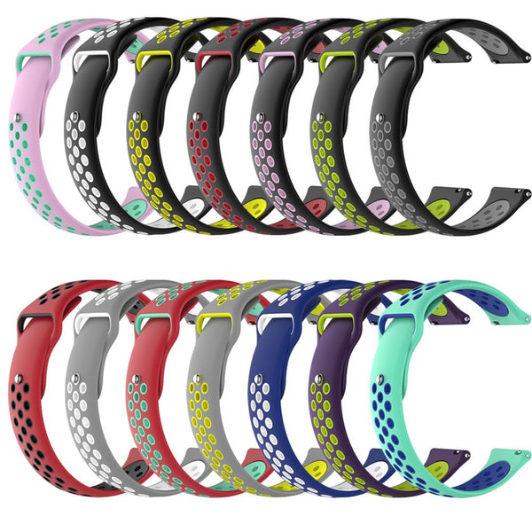 22mm Replacement Soft Silicone Sport Band For Xiaomi Amazfit Smart Watch Straps