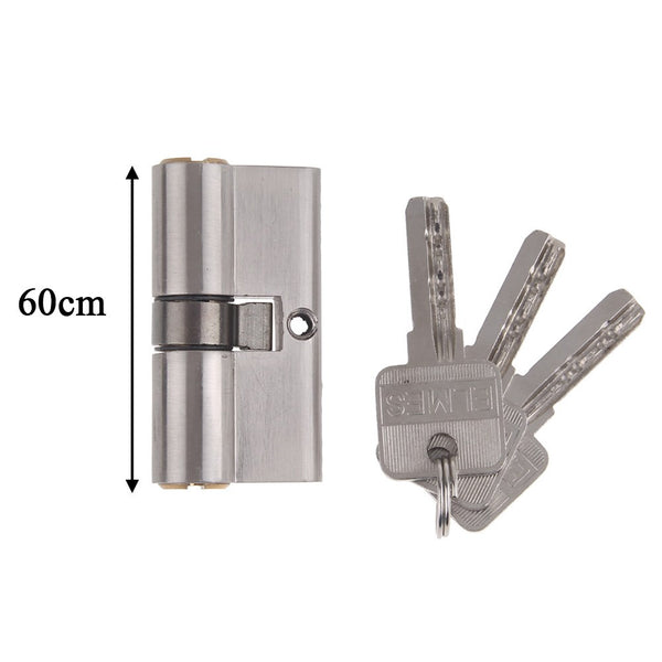 60MM 35/35 Brass Metal Superior Euro Cylinder with 3 Keys Anti Snap / Bump / Pick / Drill / Pull High Security uPVC Composite Door Barrel Profile Lock