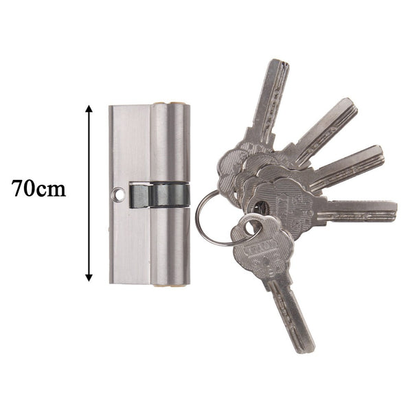 70MM 35/35 Brass Metal Superior Euro Cylinder with 3 Keys Anti Snap / Bump / Pick / Drill / Pull High Security uPVC Composite Door Barrel Profile Lock