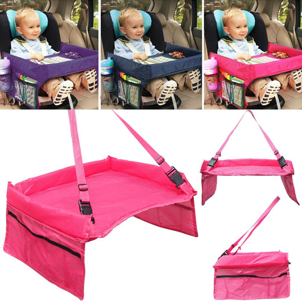 Waterproof Safety Snack Baby Car Seat Table Kids Play Travel Tray Drawing Board