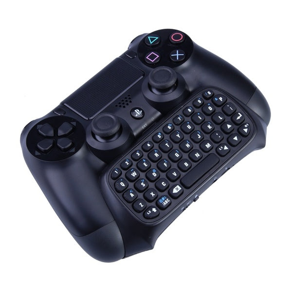Black Mini Bluetooth Wireless Chatpad Message Game Controller Keyboard for Playstation PS4 Controller