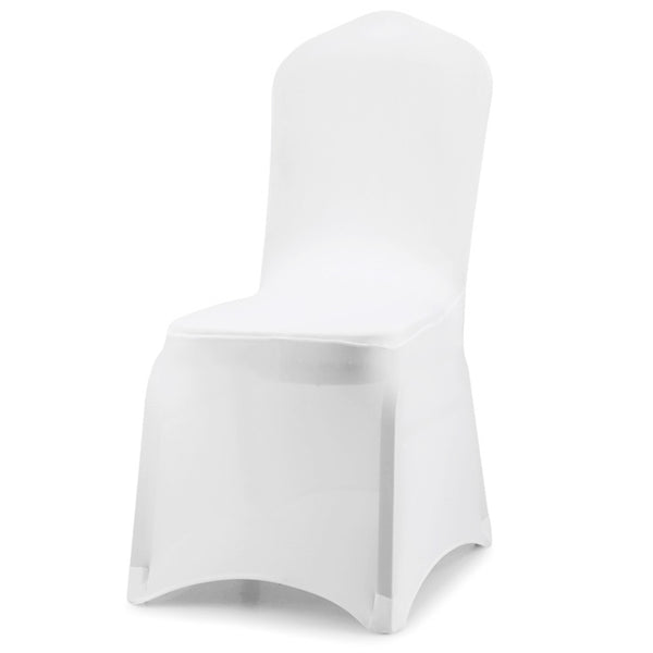 10 Pcs White Fashion Soft Contracted Hotel Home Wedding Elastic Seat Chair Cover