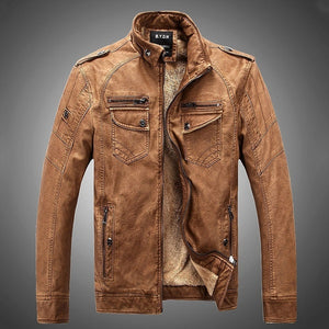 Men's Coat Leather Jacket