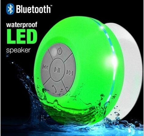 Waterproof Wireless Bluetooth Hands-free Mic Suction Bathroom Speaker & for Phone PC