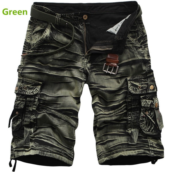 Men's Summer Cotton Overalls Summer Camouflage Loose Shorts