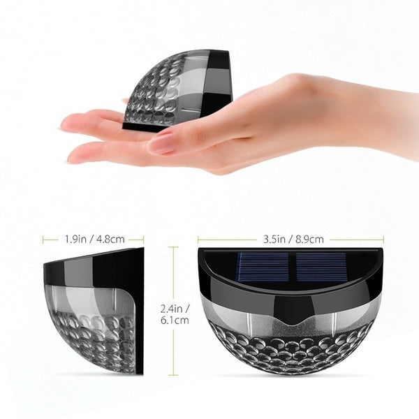 2 x Solar Powered Wireless Light Weatherproof Lamp with 6 LEDs Light Sensor Auto on at Dusk Auto off at Dawn for Outdoor