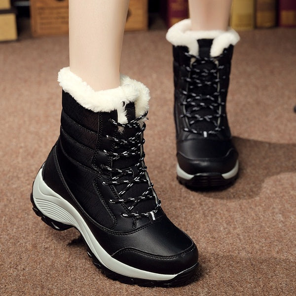 Women's Fashion Winter Boots Ankle Warm Bootie Casual Outdoor Shoes Plus Size 35-41