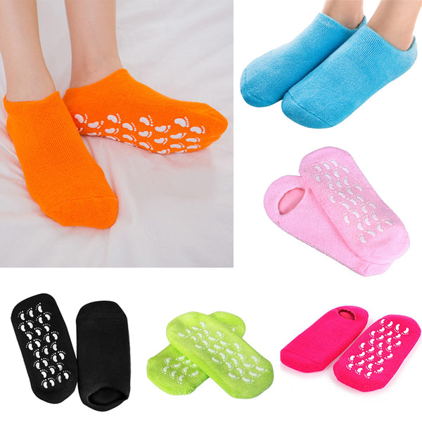 1 Pair Gel Socks Moisturize Soft Repair Cracked Skin Spa Moisturizing Socks