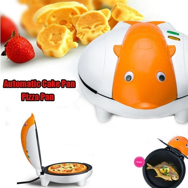 220V Cartoon Dolphin Multifunction Electric Cake Baking Pan Pizza Pan Home Kitchen Appliances