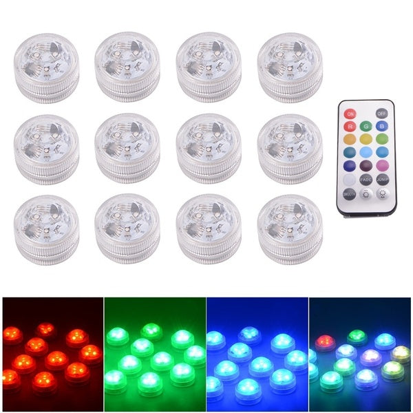LED RGB Submersible LED Light Multi Color Waterproof Wedding Party Vase Base Floral Light With a Remote Controller