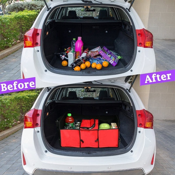Foldable Car Trunk Storage Bag Oxford Cloth Folding Truck Storage Box
