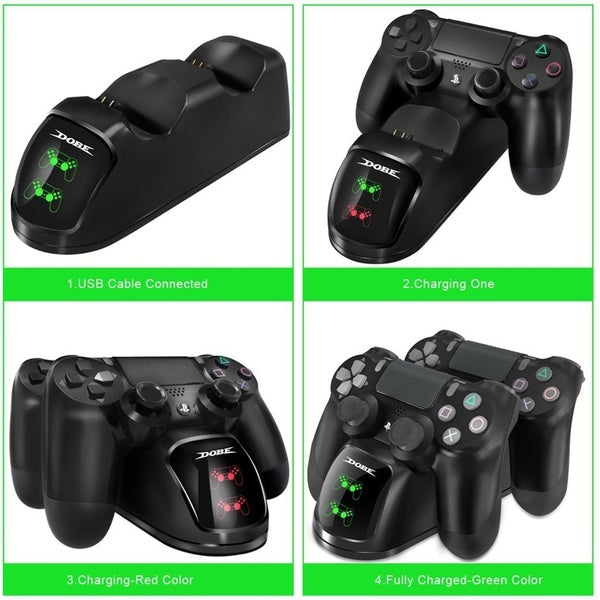 PS4 Dual Shock Controller Dual USB Charging Charger Docking Station for PS4 / PS4 Slim / PS4 Pro Controller