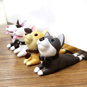 Creative Super Cute Dog PVC Door Stopper Holder Floor Knob Kids Room Decor Home Hardware