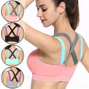 Fitness Yoga Push Up Sports Bra for Womens Gym Running Padded