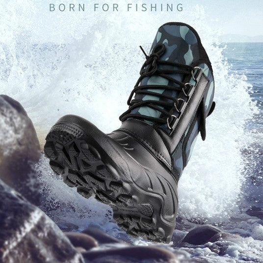 Men's Spring Winter Snow Boots Waterproof Fishing Outdoor Skiing Hiking Boots Tactical Military Shoes