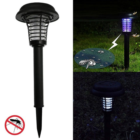 2pack Outdoor Mosquito Killer Lamp Solar Powered LED Mosquito Lamp