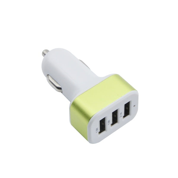 3 Port USB Square Car Charger USB Interface 2.1A Large Capacity Car Charging