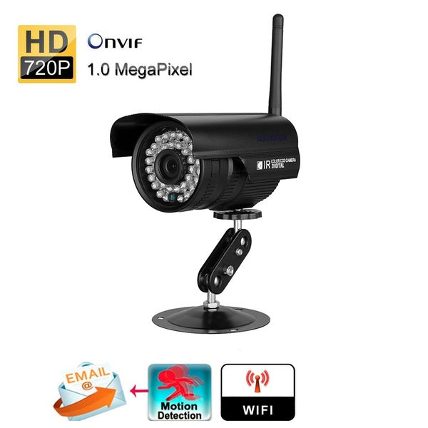 Waterproof WLAN Wireleess 1.0 Megapixel ONVIF Security CCTV WiFi IP Camera
