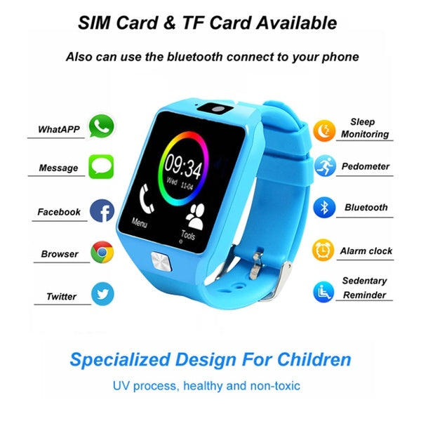Kids Smart Watch Sim Card Anti-lost Sleep Monitor Calendar Pedometer Bluetooth Wristband For Children Girls Boys