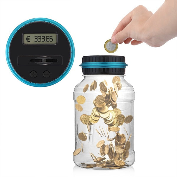 Smart Coin Counting Save Money Piggy Bank Electric Coin Box