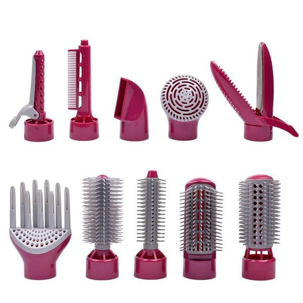 10 in 1 Multifunctional Professional 110/240V Styling Electric Hair Dryer Hair Blow Dryer Set Volume Styler Hair Styling Brush Comb