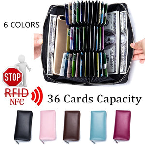 36 Cards Capacity Travel Passport Credit ID Card Cash Wallet Purse Holder Case Document Bag