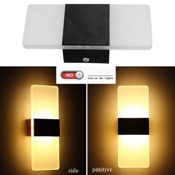 Modern LED Wall Lighting Up Down Cube Indoor Outdoor Bedroom Sconce Lamp Fixture