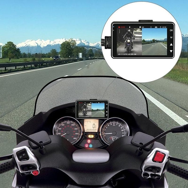 Car Dirver Recorded Camera, Motorcycle Action Sport Camera Dash Cam with Specialized Dual-track Front Rear Recorde