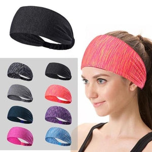 Elastic Hair Band Women Wide Cotton Head Warp Knotted Turban Sport Yoga Headband for Women Girl