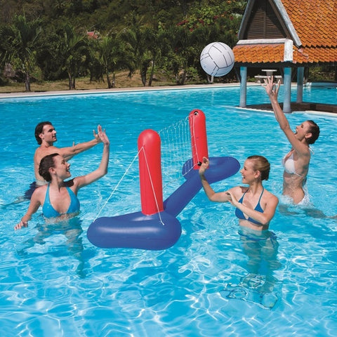 Floating Pool Volleyball Game, Floating Hoops Basketball Game