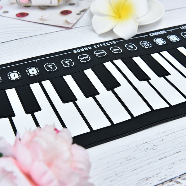 Portable 49 Keys Roll-up Piano USB Keyboard Controller Hand Electronic Piano Practical