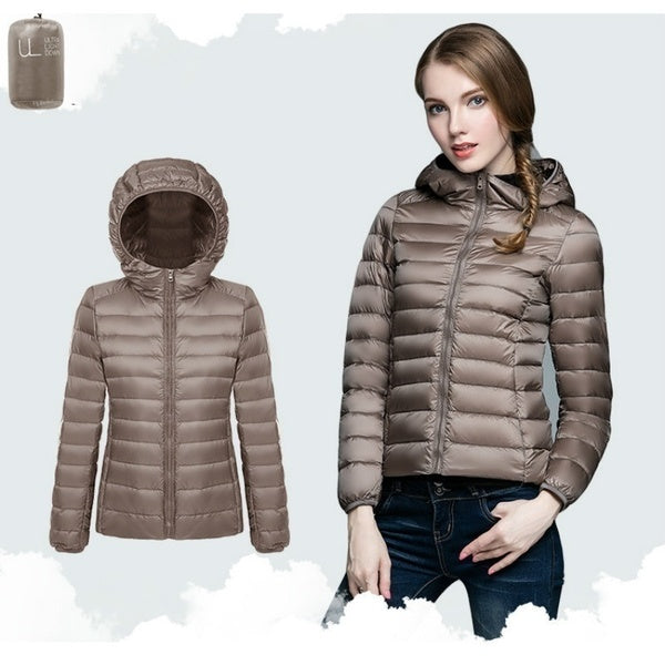 Women's Down Parkas Cotton-Padded Winter Jacket Coat Hooded Down Jacket