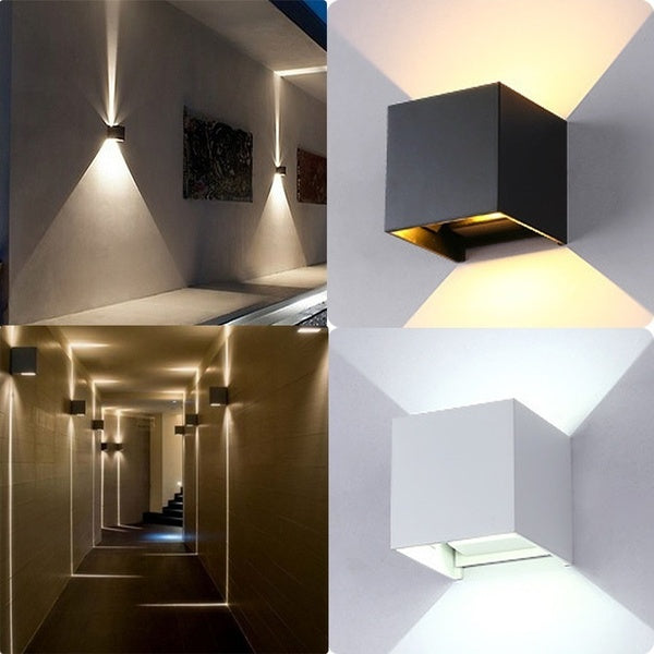 12W COB LED Chip Modern Wall Lamp Waterproof Outdoor Wall Decoration Sconce Lighting