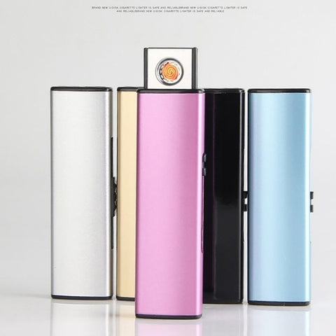 Windproof Lighter Smoking Gadgets For Smoker USB Electronic Lighter Rechargeable Cigarette Lighter