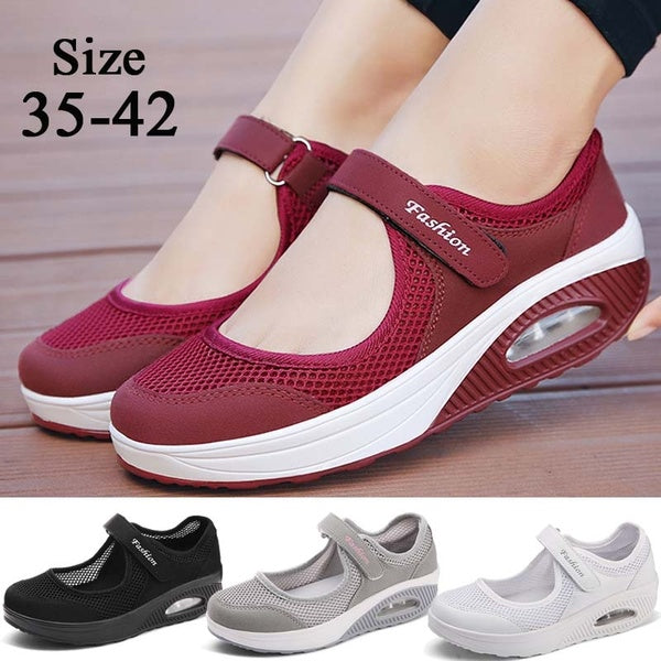 Women 's Walking Shoes Anti - Skid Soft Soled Mother Mesh Shoes