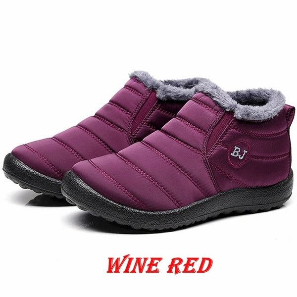 Women Winter Boots Casual Shoes Slip on Snow Boots Ladies Loafers Ankle Boots