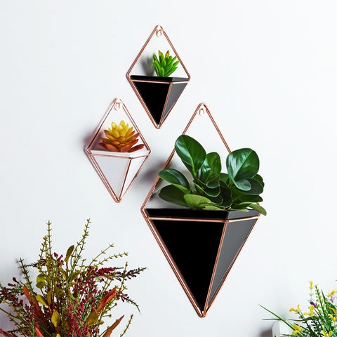 Geometric Hanging Flower Pots Holder Garden Succulent Plants Decorations