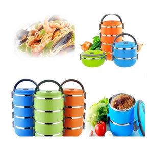 1-4 Layers Thermal Insulated Lunch Box Stainless Steel