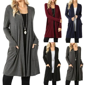 Autumn Winter New Women Loose Fashion Knitted Cardigan Sweater Coat Casual